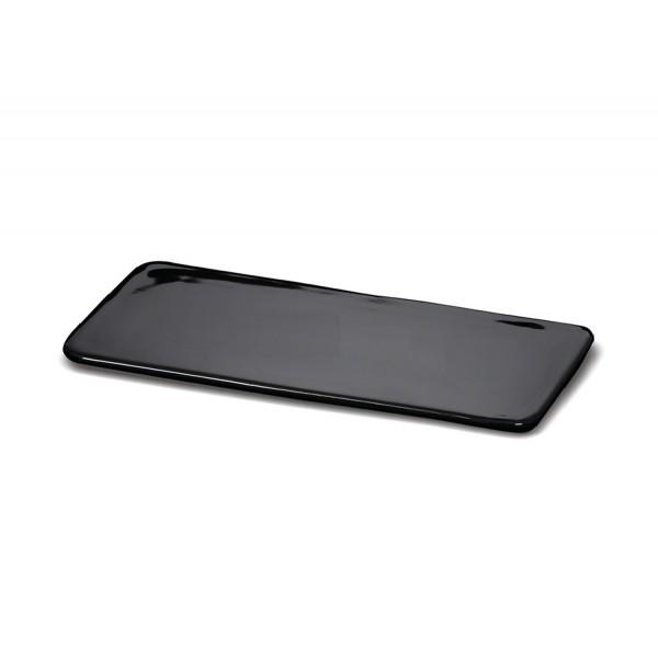 Блюдо прямоугольное «Corone» 310х140 мм плоское черное