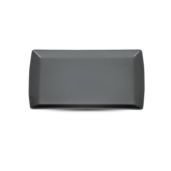 Блюдо прямоугольное «Corone» 200х115 мм серое