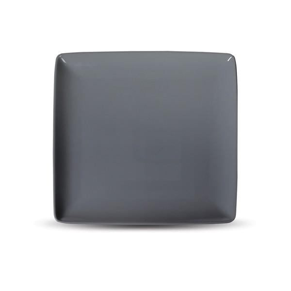 Блюдо квадратное «Corone» 265х265 мм серое