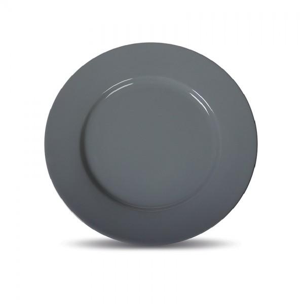 Тарелка мелкая «Corone» 230 мм серая