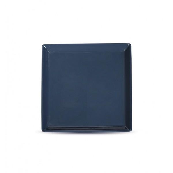 Тарелка квадратная «Corone» 200 мм синяя