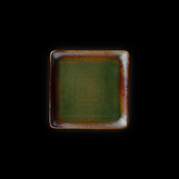 Тарелка квадратная «Corone Verde» 155 мм