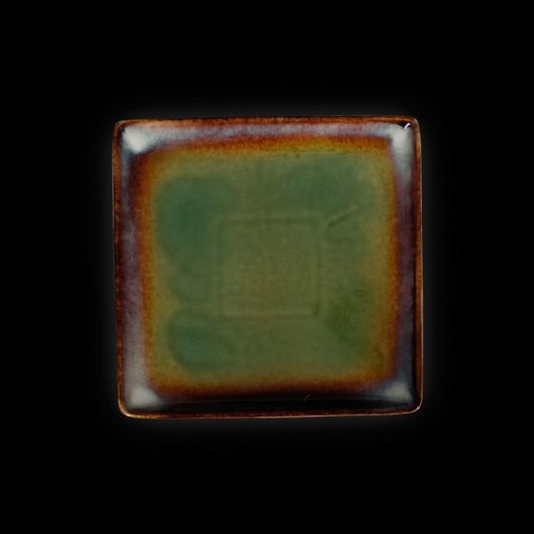 Тарелка квадратная «Corone Verde» 210 мм