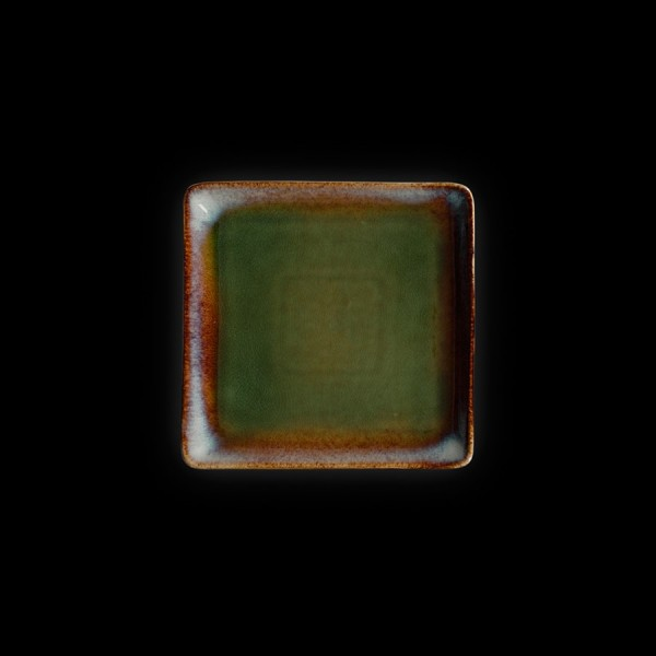 Тарелка квадратная «Corone Verde» 175 мм