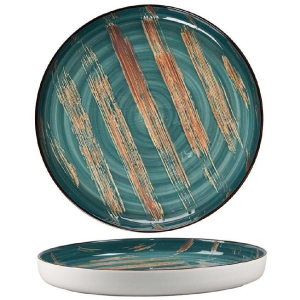 Тарелка с бортом Texture Dark Green 280 мм