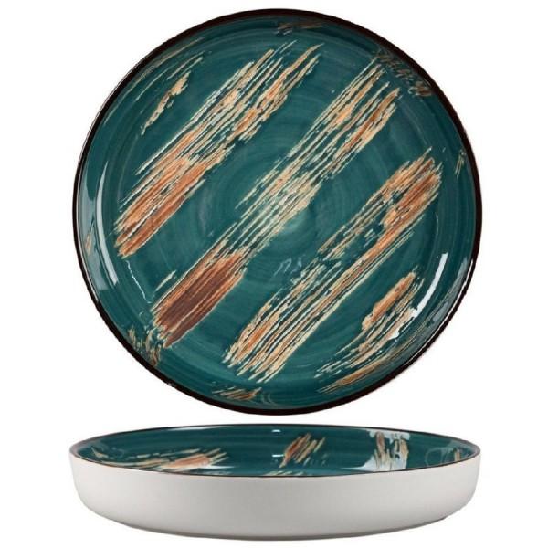 Тарелка с бортом Texture Dark Green d 165мм